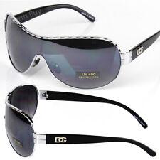 New DG Eyewear Mens Womens Designer Shield Sunglasses Shades Fashion Silver Wrap