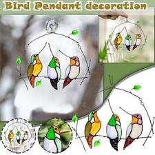 Cute Colorful Bird Decoration Hanging Window Pendant Family Window Decoration