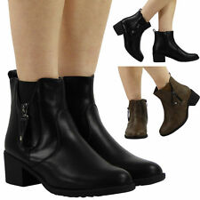 Women's Cuban Mid Heel (1.5-3 in.) Synthetic Zip Shoes