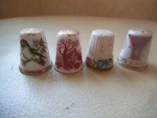 Porcelain China Collectable Thimbles Set of Three Popes