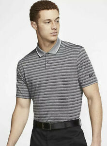 Men's NIKE Dri-FIT Vapor Gray Golf Polo Shirt CK4744-010 NWT MSRP $75 Sz MED