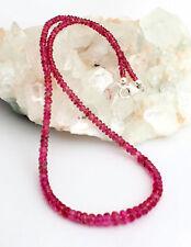 Natural Rubelita Turmalina Cadena de Piedra Preciosa Rosa Rojo Joya Exclusivo