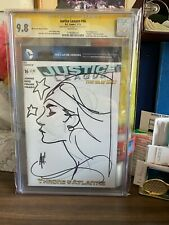 CGC 9.8 JUSTICE LEAGUE # 16 (2013) SIGNED & INK SKETCH OF Wonder Woman BY HUGHES