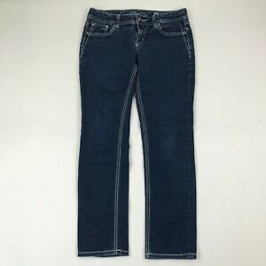 "Miss Me Women JE575E5R Easy Skinny Rhinestone Jeans sz 28 (Actual 31x29"")"