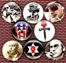 Hunter S Thompson 8 NEW buttons pin badges gonzo RIP Fear and Loathing Las Vegas