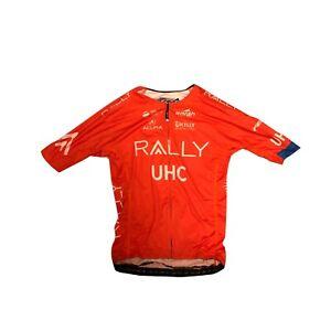 Men's 2019 Borah Rally UHC Pro Cycling SS Race Jersey, Orange, Size Small EUC