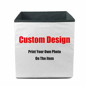Custom Design Storage Bins Baskets Organizer Box Personalized Your Own Photos