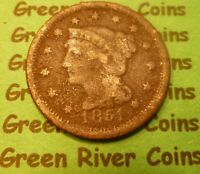 1851  U S Braided Hair Large  Cent   #51M        (1839-1857) Cull