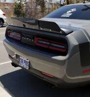 2015+ 2 PC Dodge Challenger Rear Wicker Bill wickerbill Spoiler w BACKUP CAMERA