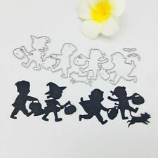 Halloween Children DIY Metal Cutting Dies Stencil Scrapbooking Album Stamp Card