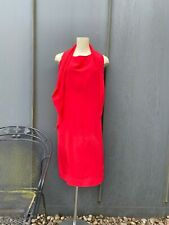 Maison Martin Margiela red open back silk dress size 44IT/UK10