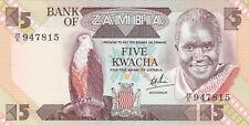 5 KWACHA UNC BANKNOTE FROM ZAMBIA 1986 PICK-25c