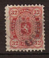 Finlande N°20 32p Carmin Dentelé 11. P150
