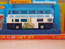 Vintage Matchbox Lesney SUPER KINGS K-15 The Londoner Chesterfield Bus