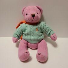 Ralph Lauren Teddy Bear 2004 Polo Cable Knit  Sweater Scarf Stuffed Animal Plush