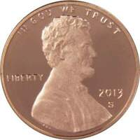 2013 S 1c Lincoln Shield Cent Penny US Coin Choice Proof