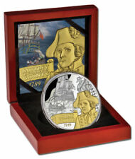 2014 Niue $10 Mutiny On The Bounty 5oz Silver Proof Coin Rare Limited Edition