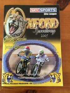 2007 OXFORD v IPSWICH 13th APRIL   ( GOOD CONDITION )