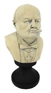 Zeckos Ceramic Winston Churchill with Cigar Bust