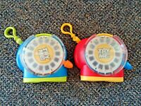 """Lot Of (2) 2002 Fisher Price View Master Toys With Clip Ons """" GREAT TOYS """""""