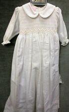 NWT Girl's Smocked & Embroidered Christening Gown & Bonnet from Will'beth sz 3 m