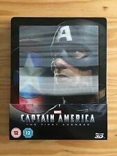 Captain America - The First Avenger - 3D Blu-ray Leticular Steelbook - VGC