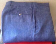 TOM FORD MENS $1000 SILK / WOOL / LINEN BLUE PANTS NWTAG SZ. 52/36  SWISS