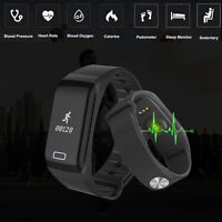 Wasserdicht Smart Watch Armband Uhr Pulsuhr Schlaf Fitness Tracker Bluetooth 4.0