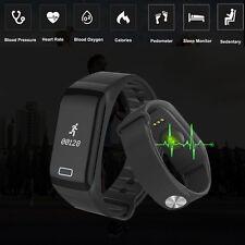 Wasserdicht Smart Watch Armband Uhr Pulsuhr Schlaf Fitness Tracker Bluetooth 4.0
