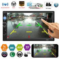 "7"" 2Din Touch Screen Car Stereo MP5 Player AUX RCA BT FM Radio In-Dash Head Unit"