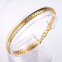 "Women's/Men's Bracelet Link 18K Yellow Gold Filled 8""Chain Fashion Jewelry"