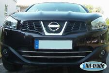 Listas de parrilla cromadas para Nissan Qashqai (+2) J10 acero inoxidable