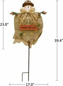 Scarecrow Yard Decor Outdoor with LED Light Halloween Scarecrow Decoration