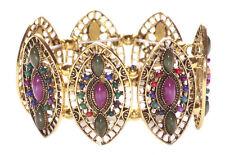 Charismatic Purple/Dark Green Golden Eye/ One Size Fits All Hand Bracelet (Ns17)