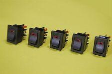 5 C&K DM32J72S205Q6 Illuminated DPST Rocker Panel Switches 3A @ 120V