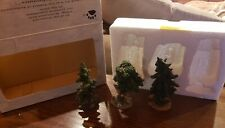 Boyds Town Village Bearly Arboretum Collection 3 Trees Style # 19804