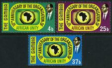 Gambia 295-297, MNH. Organisation of African Unity(OAU), 10th anniv. Emblem,1973