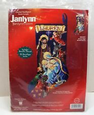 "Janlynn Needlepoint Christmas Stocking Kit ""O'HOLY NIGHT"" Nativity Scene"