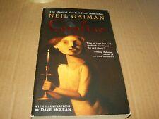 Coraline by Neil Gaiman, Paperback Book, Good-Shape,2004.