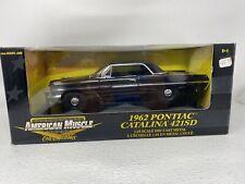 1/18 ERTL American Muscle 1962 Pontiac Catalina 421SD Black 36673 READ ME