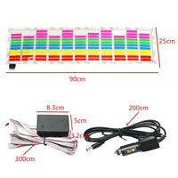 90 x 25cm Car Sticker Music Rhythm LED Flash Lamp Sound Activated Equalizer