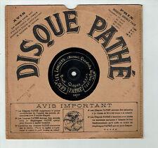78T 21cm SAPHIR Disque Phono LES LANCIERS Métra Quadrille Anglais PATHE 6870 3eF