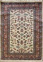 Rugstc 2.5x4 Pak Persian Ivory Area Rug, Hand-Knotted,Floral with Silk/Wool Pile