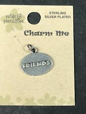 Jewelry Making Charm Me Charm Friends Sterling Silver Plated Also Scrapbooking