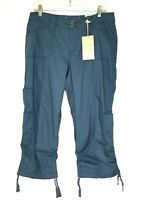 Sonoma Life Style Modern Fit Women's 10 Cargo Style Capris Cropped Pants Green
