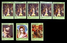 PARAGUAY 1967 Religious Paintings Imperforated (8) U/M NB232