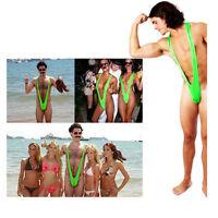 GREEN Mankini Thong Dress Up Stag Party FANCY DRESS Swim Suit Costume Swimwear
