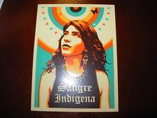 "ERNESTO YERENA Sticker decal 4"" SANGRE INDIGENA like poster print Shepard Fairey"