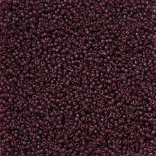 Miyuki Size 15/0 (1.5mm) Dark Smoky Amethyst Seed Beads - 8.2g (N13/1)