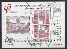 AUCT1205) Spain 1992, Granada Philatelic Exhibition, Santa Fe Mini Sheet, MUH